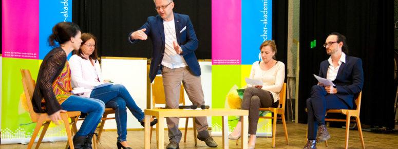 Tirol sprechen vor Menschen lernen